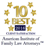 10 Best 2016 client satisfaction | American Institute of Family Law Attorneys TM