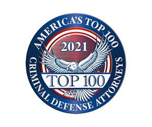 20201 Top 100 Criminal Defense Attorneys Badge